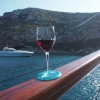 Glass on the Boat Wine Coaster