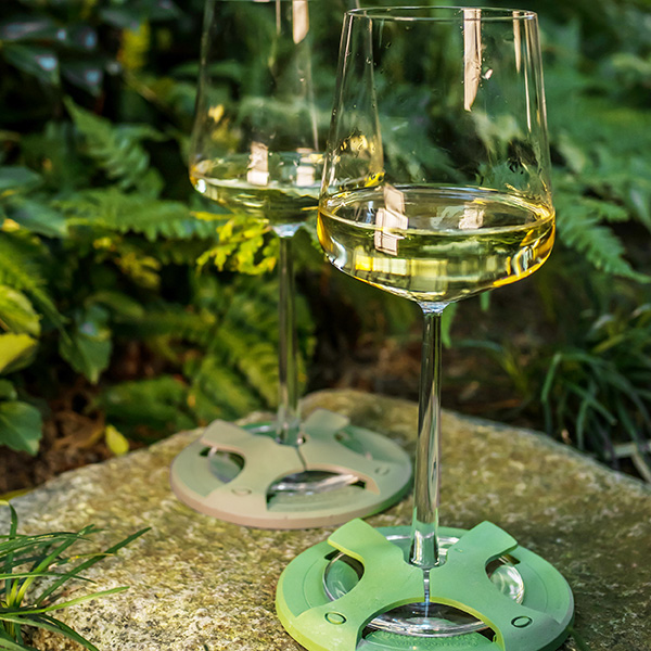 Glass on the Grass Bamboo Coasters